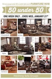 50 under 50 sale at furniture row front door
