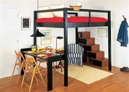 Smart Black King Size Loft Bed for Couples