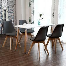 esstisch mit 4 stühlen schwarz esszimmer essgruppe 110x60x75cm für esszimmer essgruppe