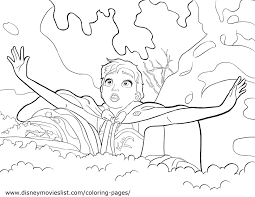 Disney Frozen Anna Wallpapers Coloring Page
