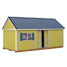 10x20 Metal Storage Shed by Best Barns Cypress 16 Ft X 10 Ft Wood Storage Shed Kit With