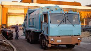 100 Garbage Trucks In Action North Americas First Electric Truck Is Silently Driving Chica