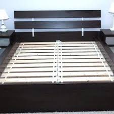 best ikea hopen full bed frame with matching night stands for sale