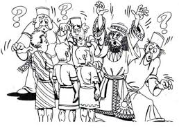 Saved From Furnace King Nebuchadnezzar Colouring Page
