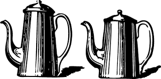 Two Coffee Pots Clip Art