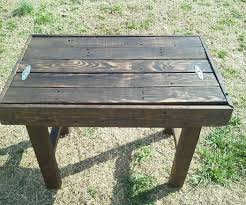 reclaimed pallet side table with drawer space 5 steps with pictures