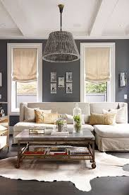 Astonishing Rustic Chic Living Room Decor Dark Grey Decorative Pendant Lamp Bbeige Letter L Sofa Table