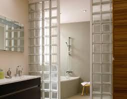 separation salle de bain les briques de verre pour une salle de bain lumineuse déco cool