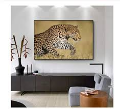 niuyhfu leopard animal pictures leinwand kunst wandmalerei