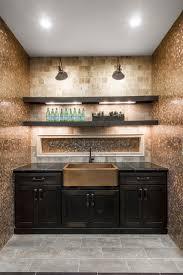 12x12 Mirror Tiles Bulk by Copper Penny Round Mosaic Tile Backsplash And A Copper Farm Sink