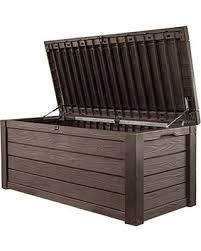 don t miss this deal keter westwood 150 gallon deck box brown