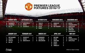 Manchester United On Twitter Here Are Our 2016 17 PremierLeague Fixtures More Details At Tco NNdzVusZuO