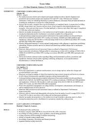 Download Certified Coding Specialist Resume Sample As Image File