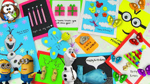 10 Easy DIY Card Ideas Cards With Christmas Gifts Birthday Valentines Day