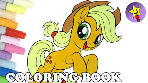 Applejack Coloring Book MLP My Little Pony The Movie Page