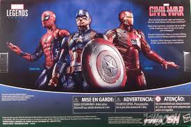 Hasbro Captain America Civil War 3 Pack Spider Man Iron Package Back