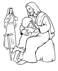 Coloring Pages Jesus And The Children