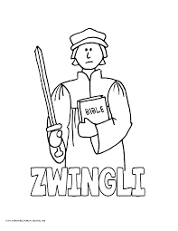 World History Coloring Pages Printables Ulrich Zwingli Swiss Reformation