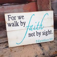 Religious Wall Decor Wood Sign Faith By HarrisSignStation On Etsy CraftShout0211