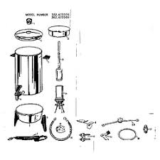 Kenmore Model 302673370 Coffee Tea Maker Genuine Parts