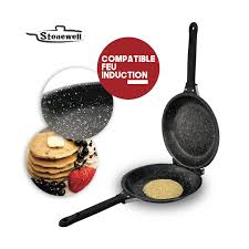 poele a pancake induction poêle avec revêtement en stonewell achetez au