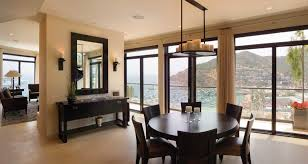 Modern Contemporary Dining Room Chandeliers Attractive Design With Small Round Dark Table