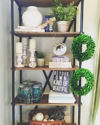 Modern Farmhouse Bookshelf Styling