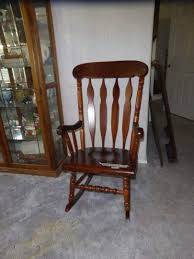 Lot # 21 - Vintage Wooden Rocking Chair Auction By NorCal Online ... Sold Antique Mission Style Rocking Chair Refinished Maple And Leather Adams Northwest Estate Sales Auctions Lot 12 Vintage Wood Mini Rocker 3 Vintage Wood Carved Rocking Chairs Incl 1 Duck Design Seat Tell City Company Love Seat Projects In Childs Wooden Refurbished Autentico Bright White Victorian W Upholstered Back Wooden Chair Ldon For 4000 Sale Shpock With Patchwork Design On Backrest Batley West Yorkshire Gumtree Child Doll Red Checked Fabric