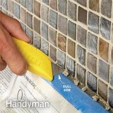 how to tile a diy backsplash the family handyman