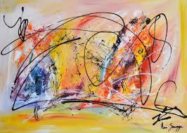 sun peinture abstraite multicolore d ame sauvage format 50 x 70