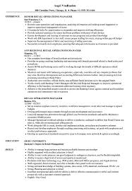 Cover Letter Best Operations Manager Resume Example