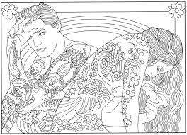 Tattoo Body Art Printable Coloring Book Page