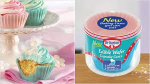 essbare cupcake waffelförmchen dr oetker