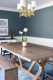 Im In Love With This DIY Modern Farmhouse Dining Table And Benches Plus She Created A Custom Stain So Pretty