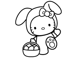 Free Hello Kitty Easter Coloring Page Pages For You To Color Online Or Print Out And Use Crayons Markers Paints