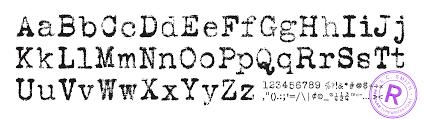 Antique Typewriter Font Best 2000 Decor Ideas