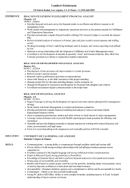 Download Real Estate Financial Analyst Resume Sample As Image File
