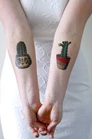 Cactus Set Temporary Tattoo 2 Pieces