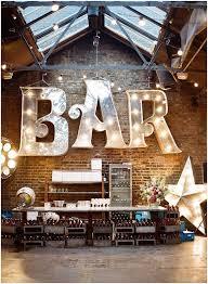image result for bar theater letter lights restaurant