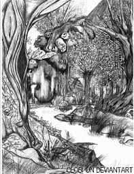 Forest Coloring Page Version By Clobi