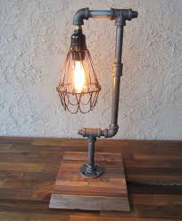 3 Spectacular DIY Industrial Lamp With Wire Case Around The Light Source