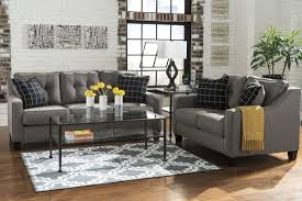 Levon Charcoal Sofa And Loveseat by Charcoal Sofa
