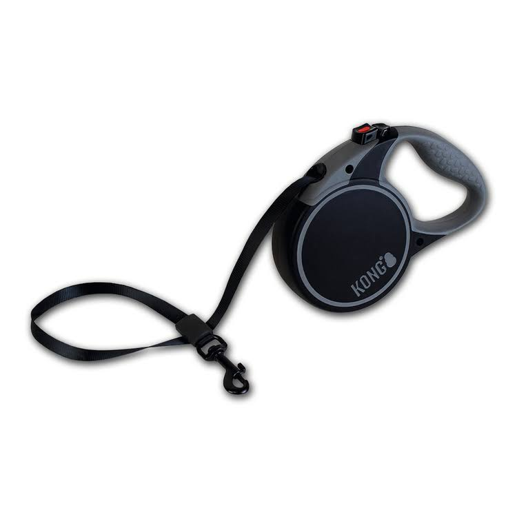 Kong Retractable Leash Terrain - Black, Small