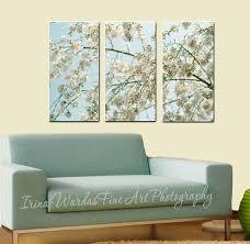 3 Panel Wall Art Nature Piece Cherry Blossom