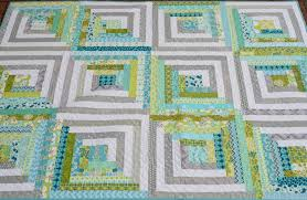 Hyacinth Quilt Designs My modern Log Cabin quilt