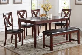 Dining Table W/ 4 Chairs & Bench (F2298)