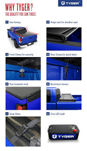 Tyger Auto TG-BC3T1530 Tri-Fold Pickup Tonneau Cover Fits 2016-2017 ... 052015 Toyota Tacoma Bakflip Hd Alinum Tonneau Cover Bak 35407 Truck Bed Covers For And Tundra Pickup Trucks Peragon Undcover Se Uc4056s Installation Youtube Revolver X2 Hard Rolling With Cargo Channel 42 42018 Trident Fastfold 69414 Compartment Best Resource Amazoncom Industries Bakflip F1 Folding Advantage Accsories 602017 Surefit Snap 96