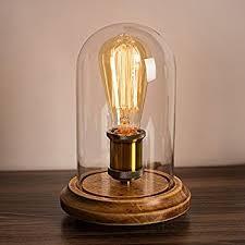 surpars house vintage desk l glass shade table l edison bulb
