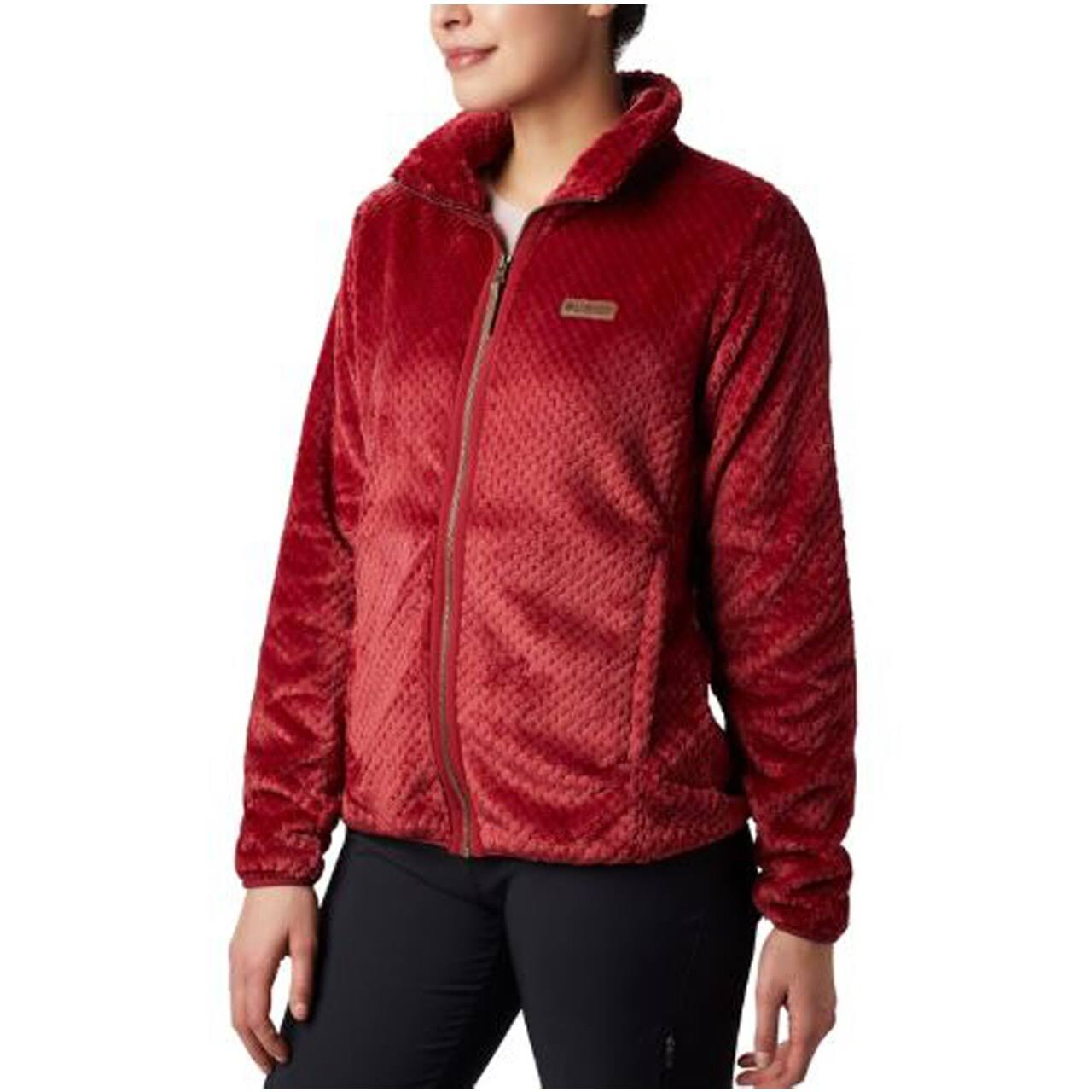 Columbia Fire Side II Sherpa Full Zip Women's Beet Large
