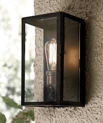 Pottery Barn Bathroom Wall Lights by Southampton 1 Light Small Wall Sconce In Antique Black Outdoor